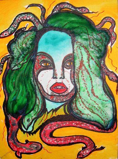 Medusa With Green Hair