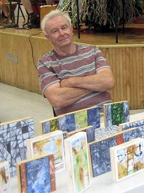 Bob at a recent art show.