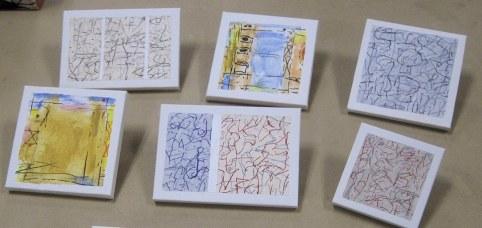 Bob Judge's small abstract paintings 2.