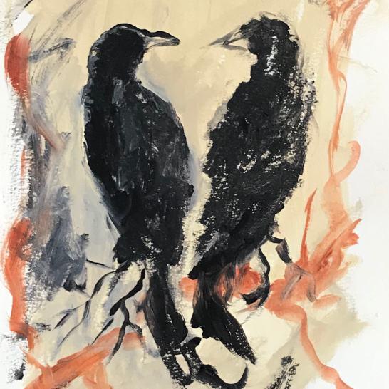 Writing ravens
